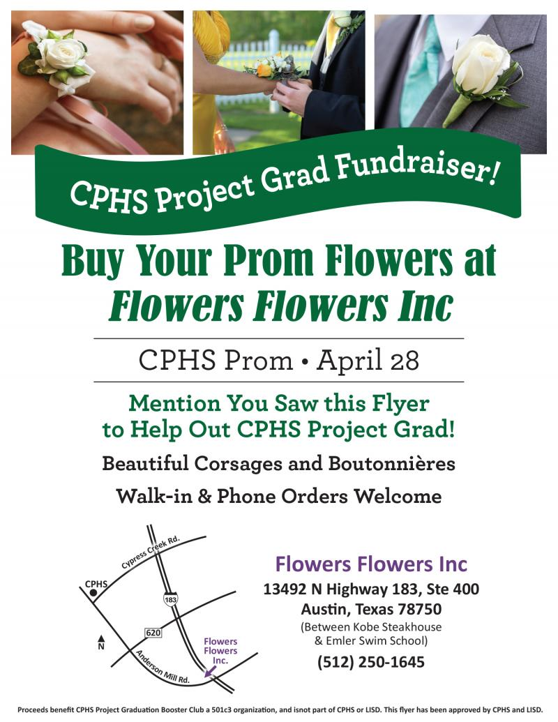 Prom Flower Promotion for CPHS Project Grad